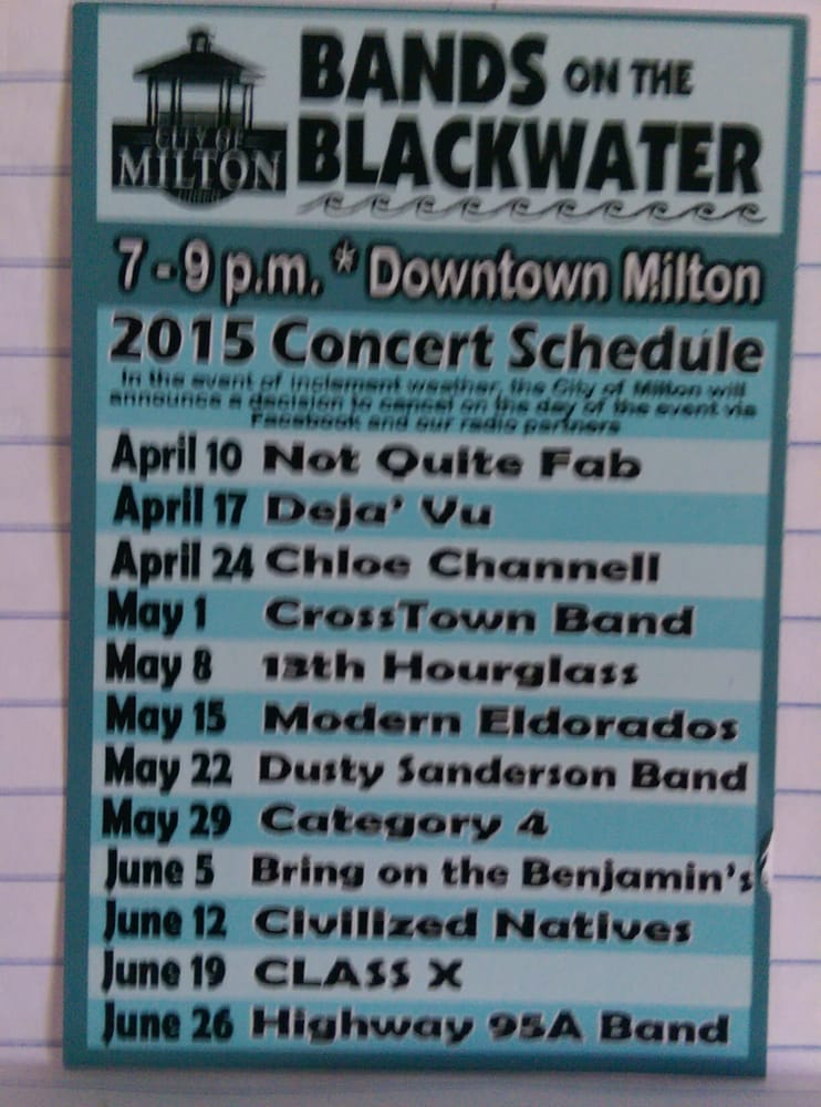 Bands on the Blackwater: 5158 Willing St, Milton, FL