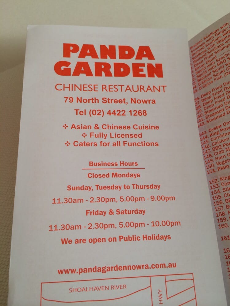 Nowra nsw restaurant gift cards giftly panda garden chinese restaurant reheart Image collections