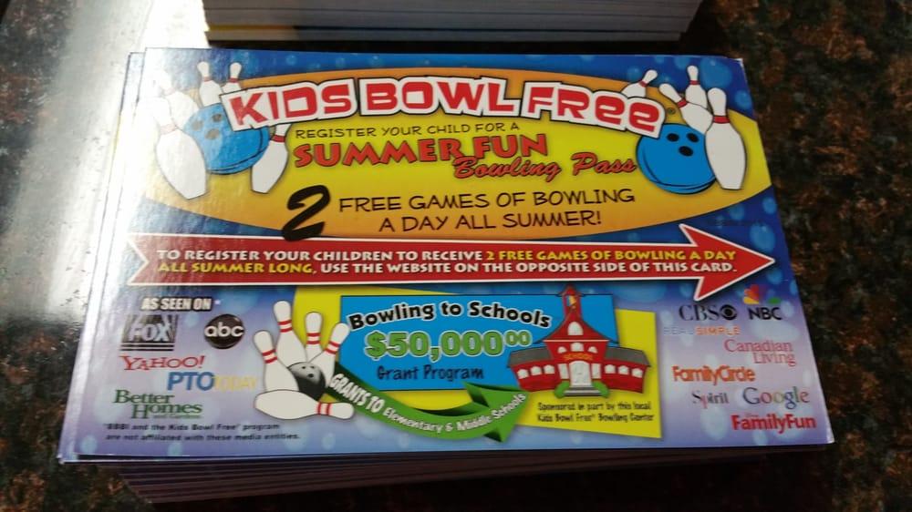 Poway Fun Bowl Kids Bowl Free