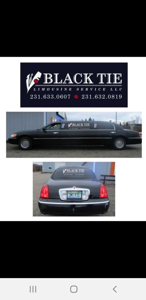 Black tie limousine service: 6518 Walton Rd, Kingsley, MI