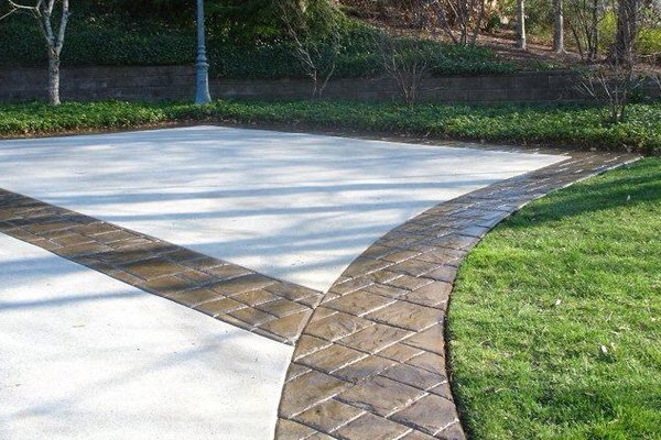 Stamped Concrete Driveway Borders Yelp