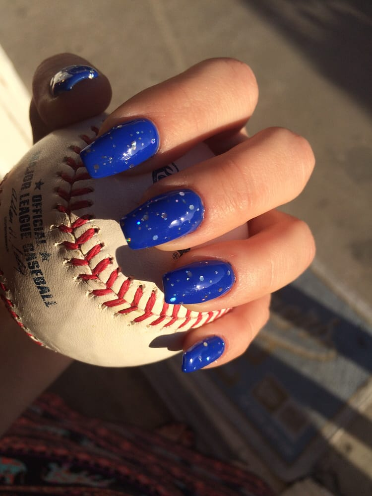 Dodger Blue Nails By Henry Yelp
