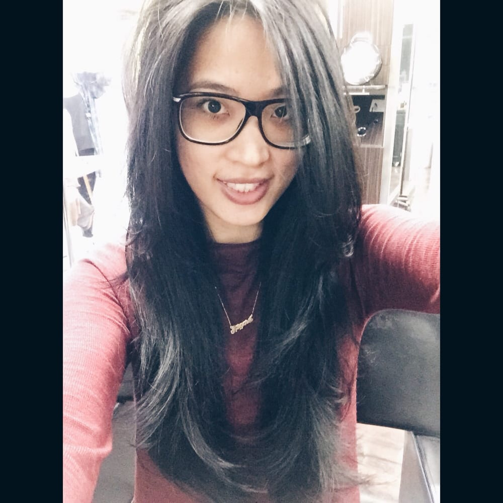 Cut off 5 inches of my hair! Blunt long layers! - Yelp  Cut off 5 inche...