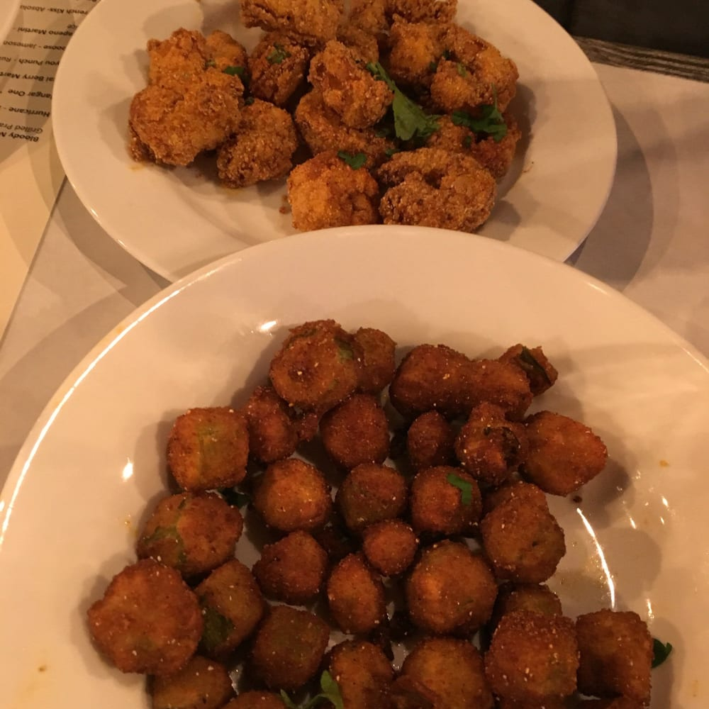 Backyard Bayou Union City Ca: Cajun Fried Shrimp And Fried Okra