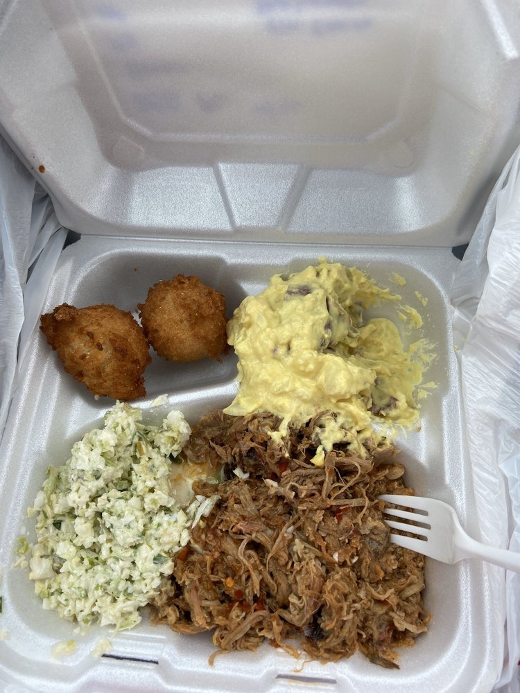 Food from Chop Shop BBQ & Grill