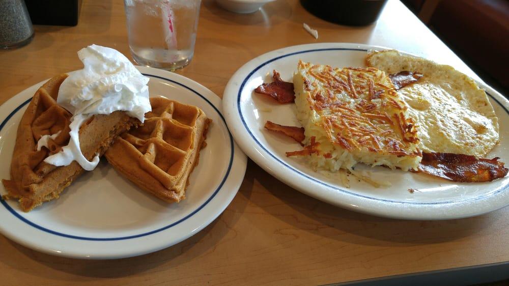 Breakfast Pumpkin Spiced Waffle And Regular Combo Yelp