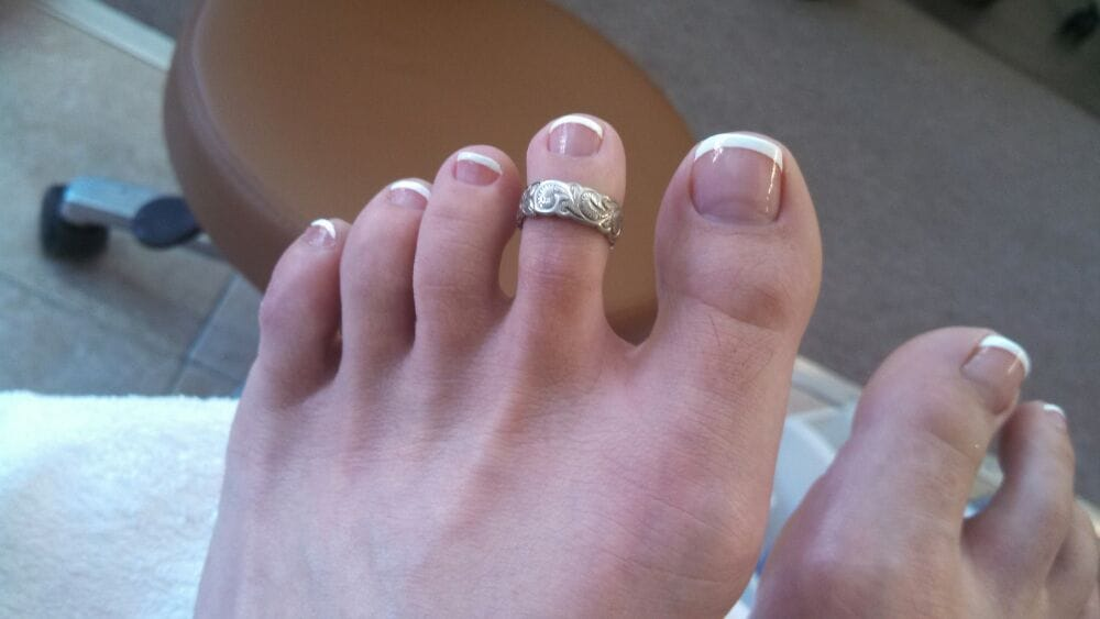 I have ugly feet, but check out the cute French pedi by Katie! - Yelp
