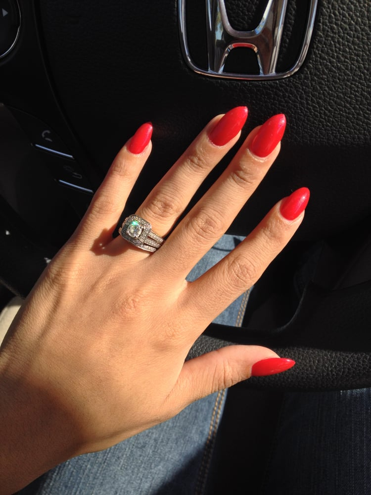 Pointy Nails (color is pearl red) I love them. Thanks Tu you did a ...