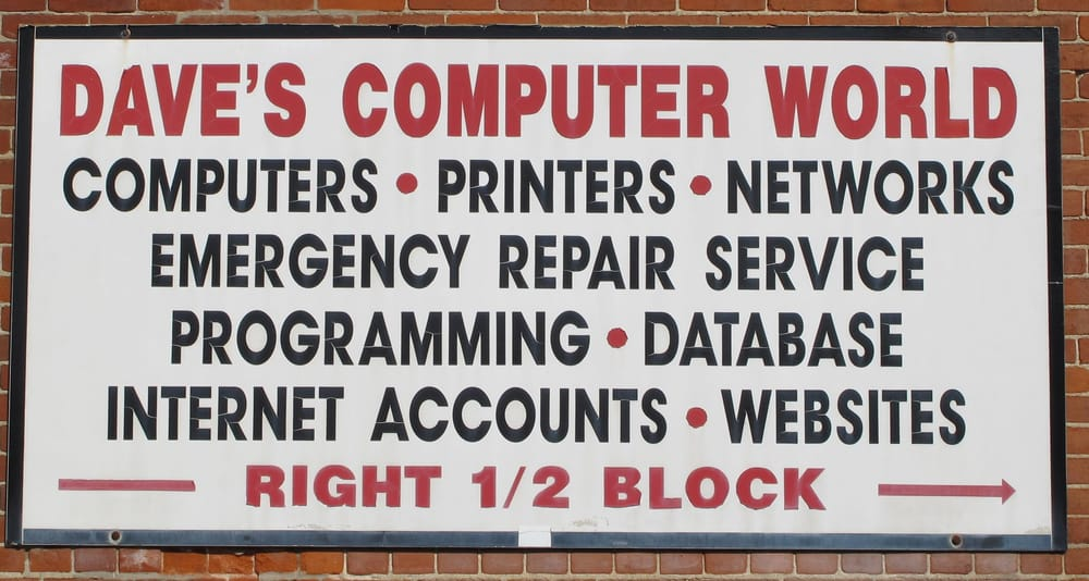 Dave's Computer World: 105 W 3rd St, Brookston, IN