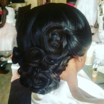 Updo Full Sew In Weave Wedding Hair Yelp