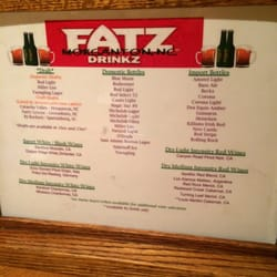 Fatz Cafe Menu Morganton Nc