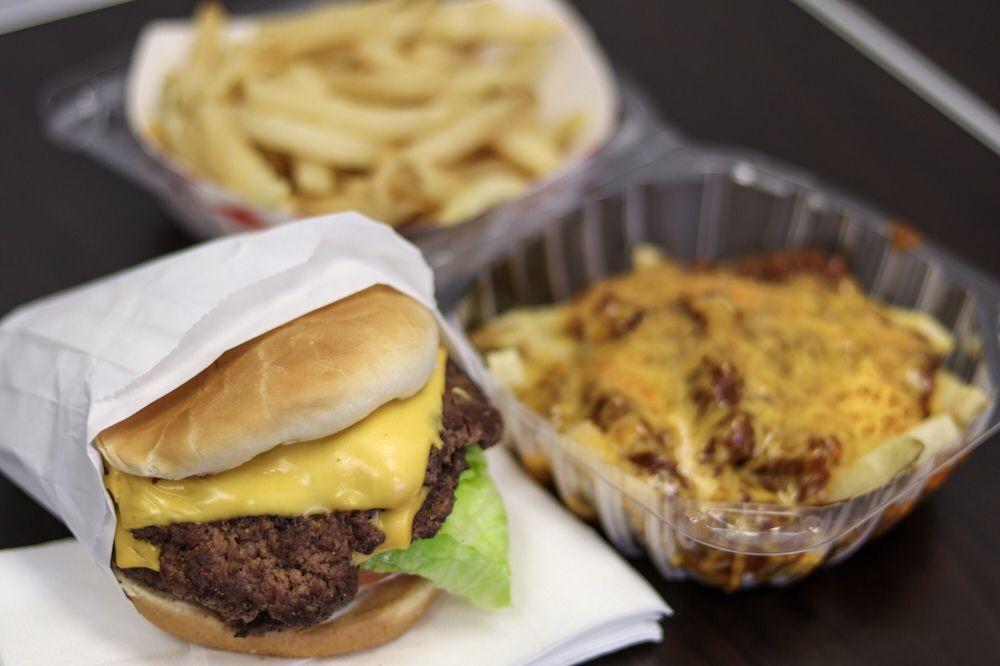 Charley's Burgers: 16867 Arrow Blvd, Fontana, CA