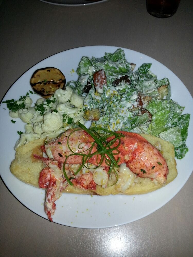 Connecticut-Style Lobster Roll with Steam Cauliflower and Caesar Salad - Yelp