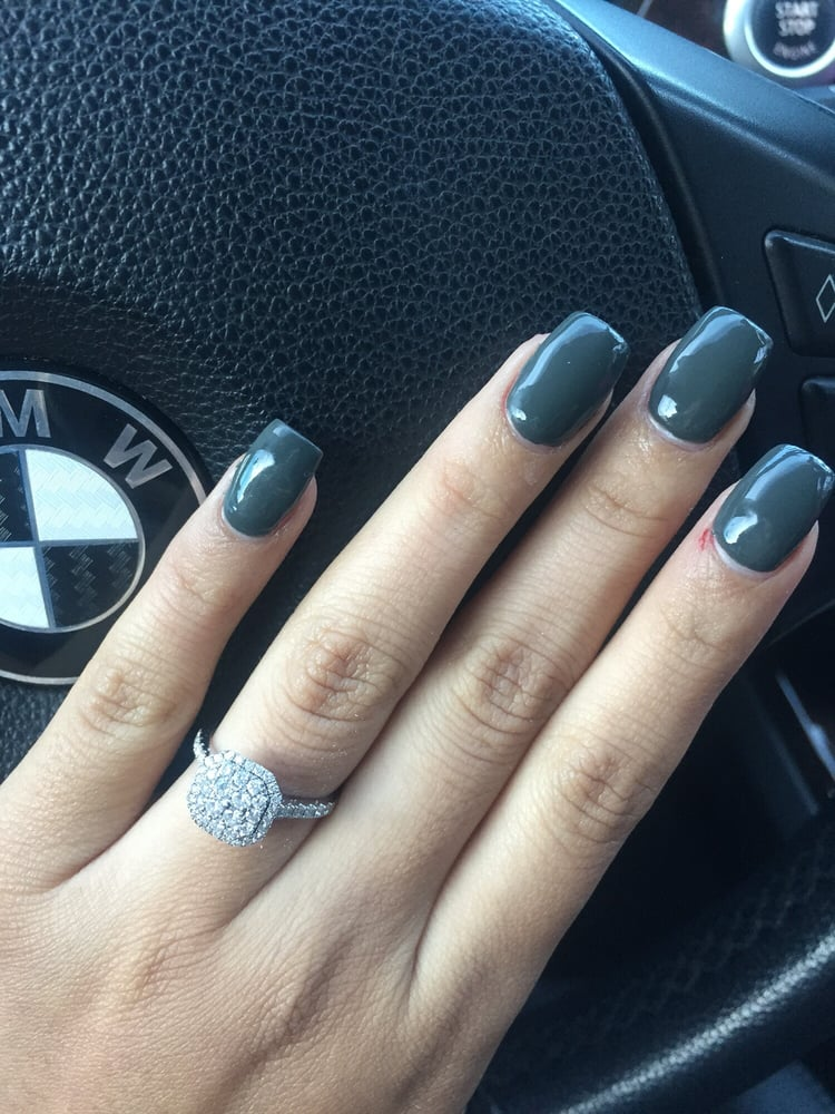 Acrylic nails, small size. They charge by the length. - Yelp