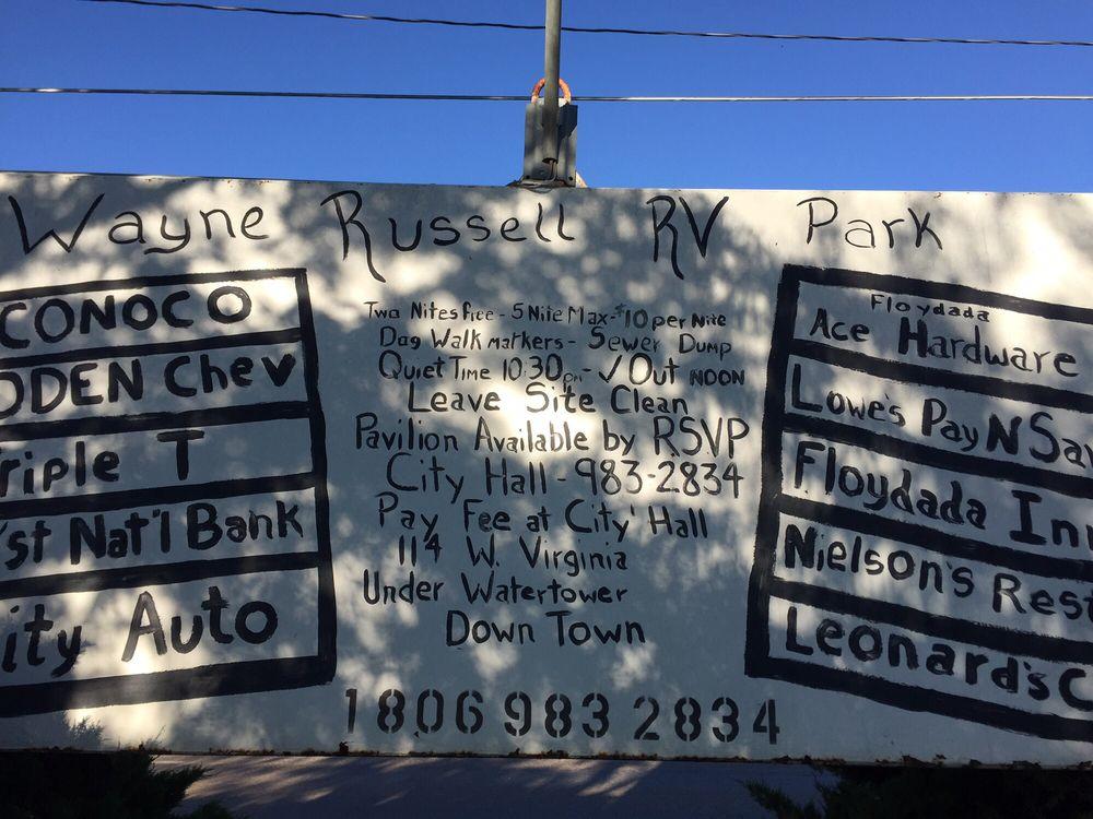 Wayne Russell RV Park: Floydada, TX