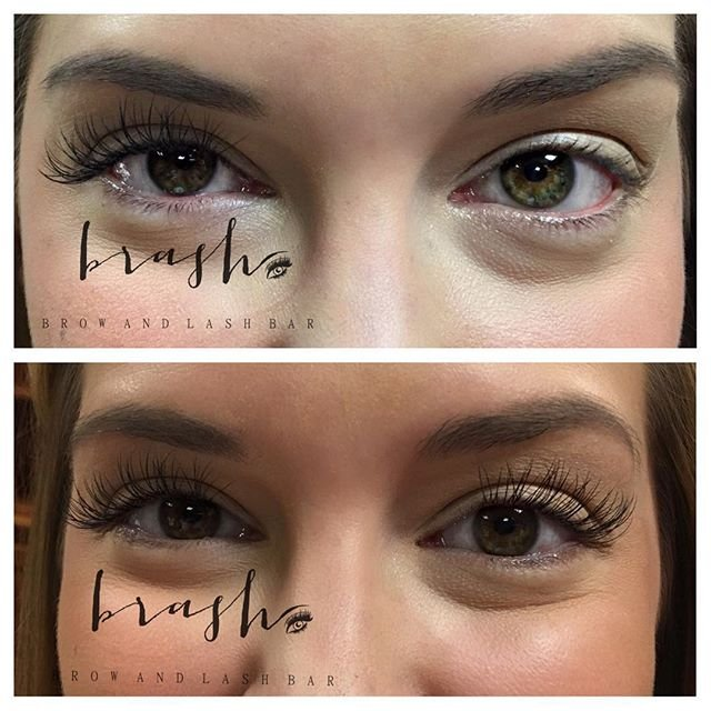 Eyelash Extensions By Lindsey Top Right Side Before Left Side