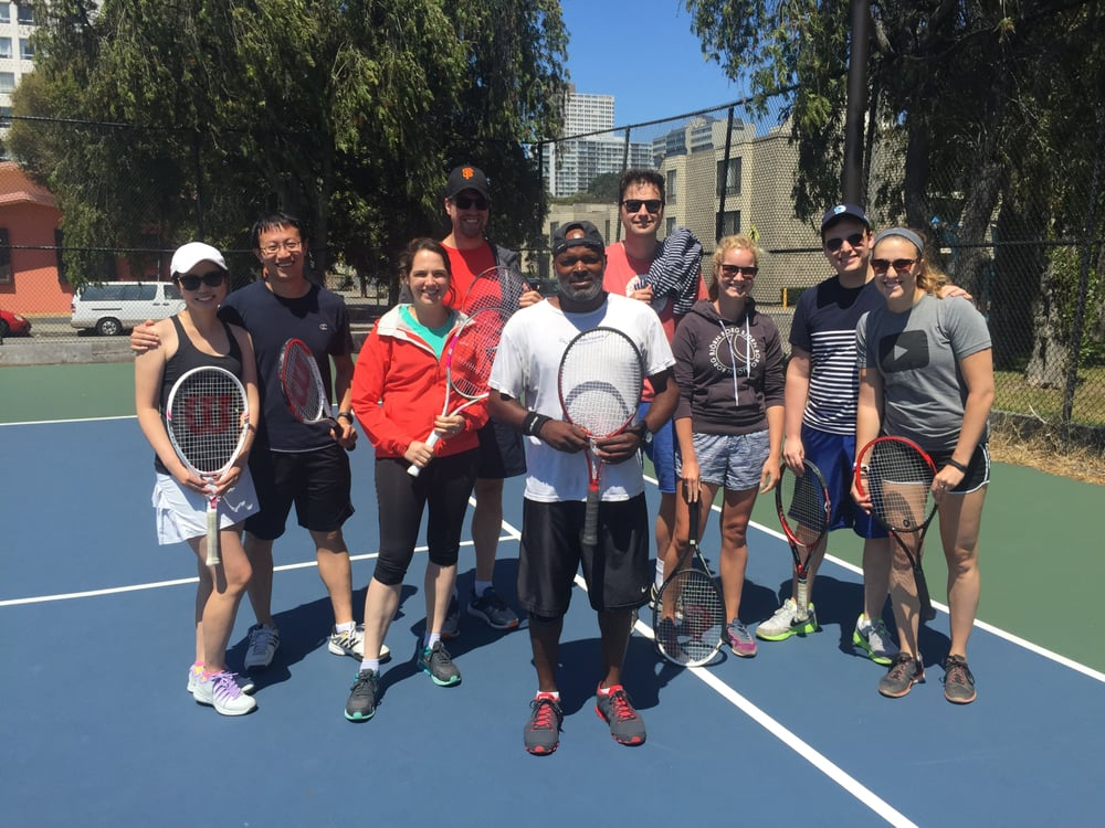 Photo of Tennis Lessons By Mcclain - San Francisco, CA, United States. coach Mcclain and the gang
