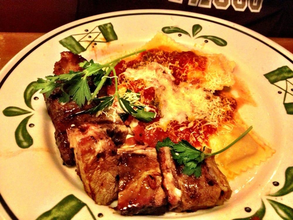 New item grilled pork veneto with ravioli yelp for Olive garden manhattan beach ca