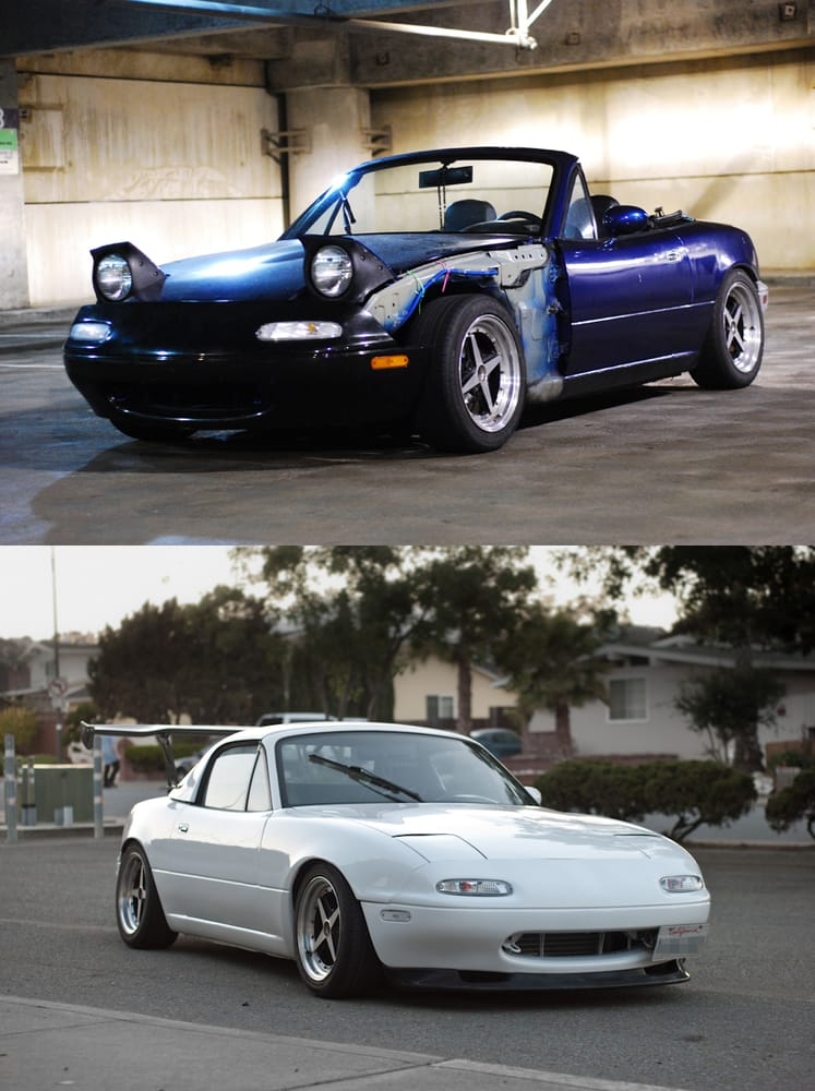 1992 mazda miata before and after the paint job yelp. Black Bedroom Furniture Sets. Home Design Ideas
