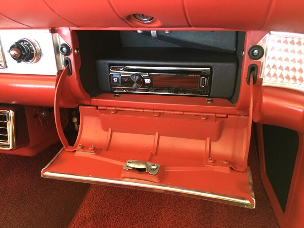 1957 thunderbird complete hidden stereo system with Alpine head unit