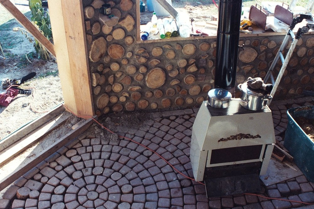 Our Cordwood Masonry Home During Construction 22 Quot Walls