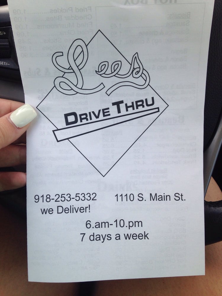 Lee's Drive Thru: 1166-1178 S Main St, Jay, OK