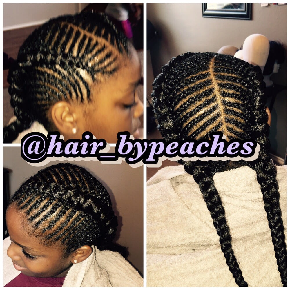 Small Cornrows In Mohawk With Box Braids In Middle Pinned Up Yelp