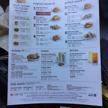 image relating to Chick Fil a Menu Printable named Chick fil a menu with figures - Brand name Promotions