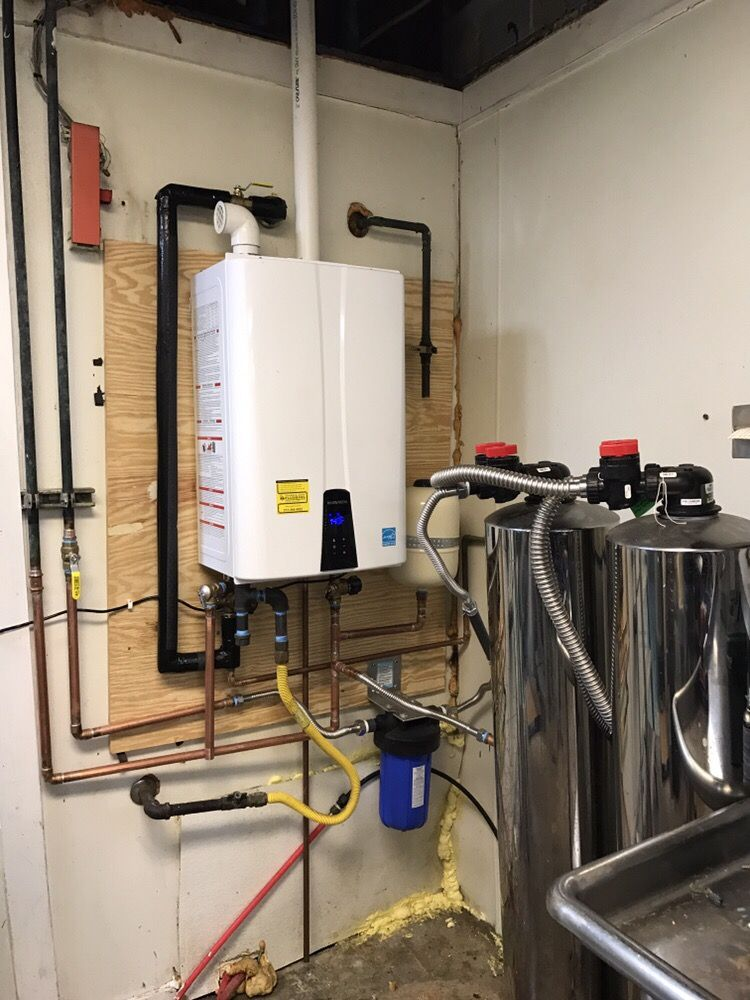 navien 240a tankless water heater installed at the rio grande