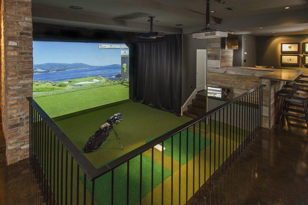 Man Cave Golf Simulator : Epic man cave design ideas doorways magazine