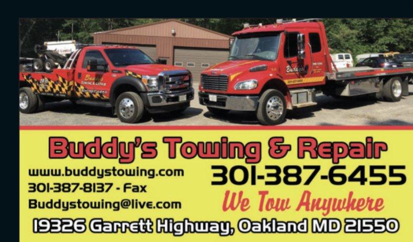 Buddy's Towing: 19326 Garrett Hwy, Oakland, MD