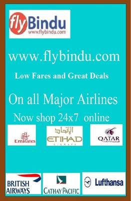 Flybindu 1009 W Rochelle Rd Irving, TX Airline Ticket Agencies
