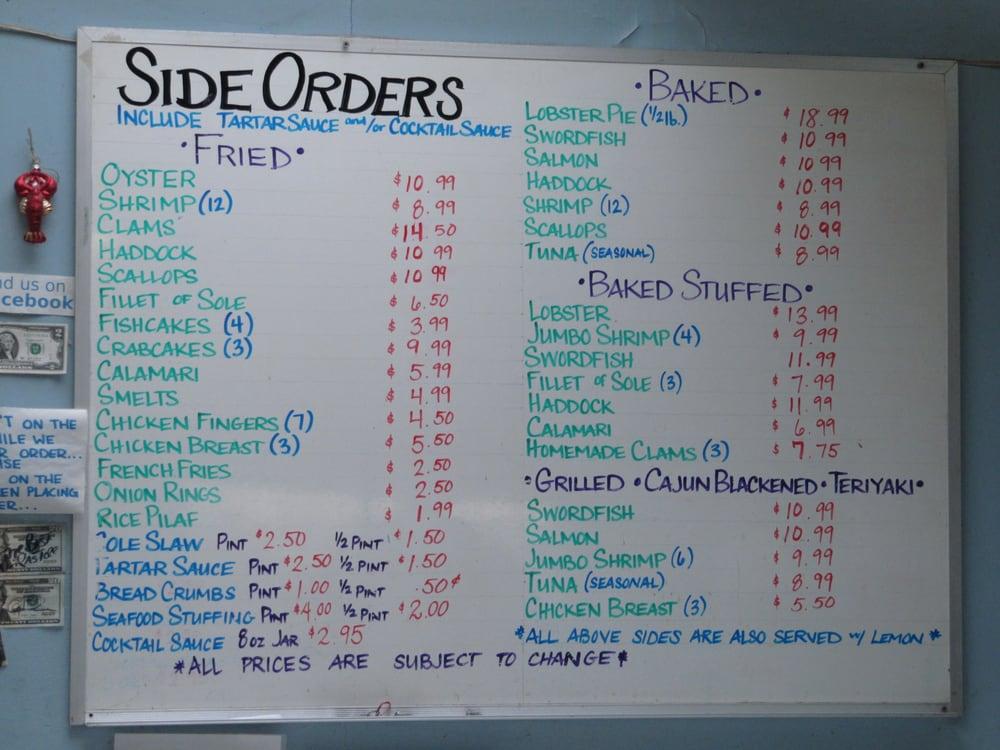 sides menu 10/2012 - Yelp