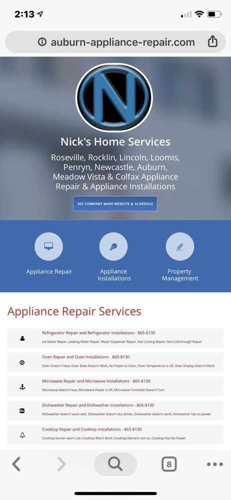 Nick's Home & Appliance Services