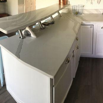 Kitchen island with metal brackets - Yelp