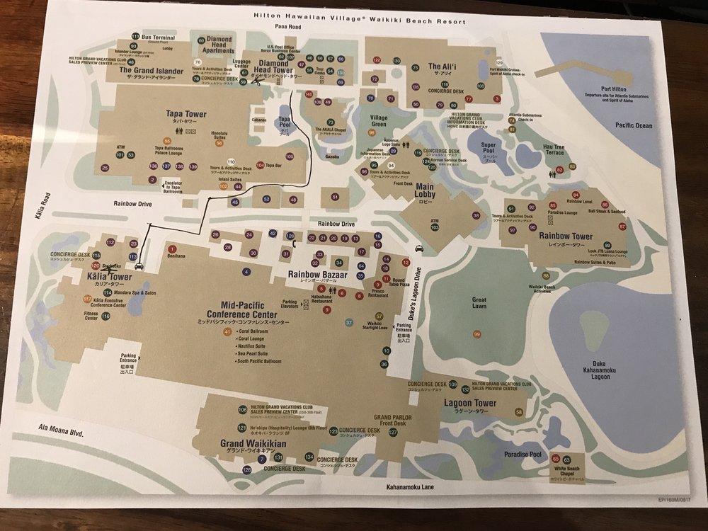 Hilton Hawaiian Village Waikiki Beach Photo Gallery: Map Of The Huge Resort