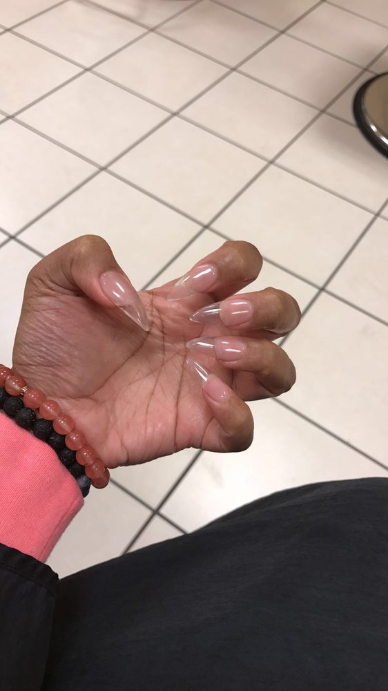Clear acrylic nails - Yelp