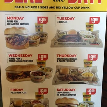 Dickies bbq weekly specials