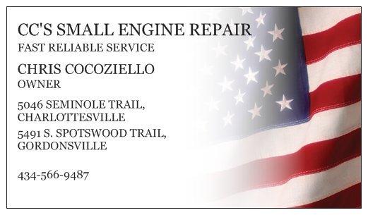 CC's Small Engine Repair: 5491 S Spotswood Trl, gordonsville, VA
