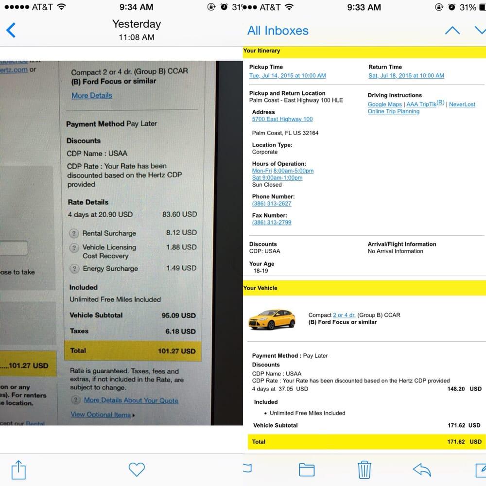 hertz car rental number