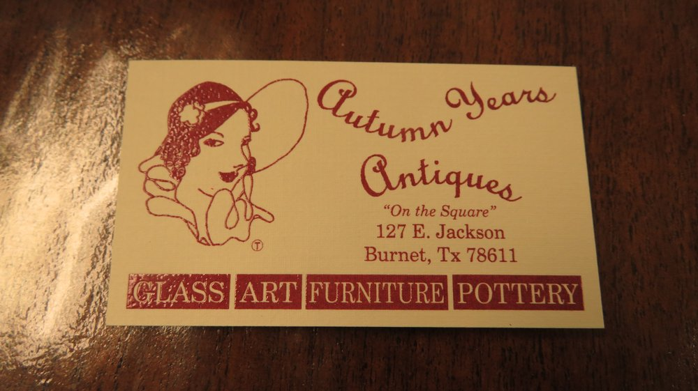 Autumn Years Antiques: 127 E Jackson St, Burnet, TX