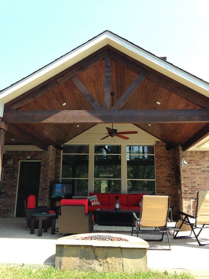 Gable Roof Patio Cover Attached To Existing House With