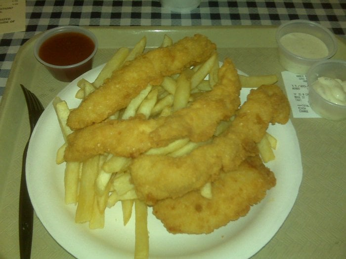 1 fish 3 big shrimp and chips combo yelp for Red lobster fish and chips