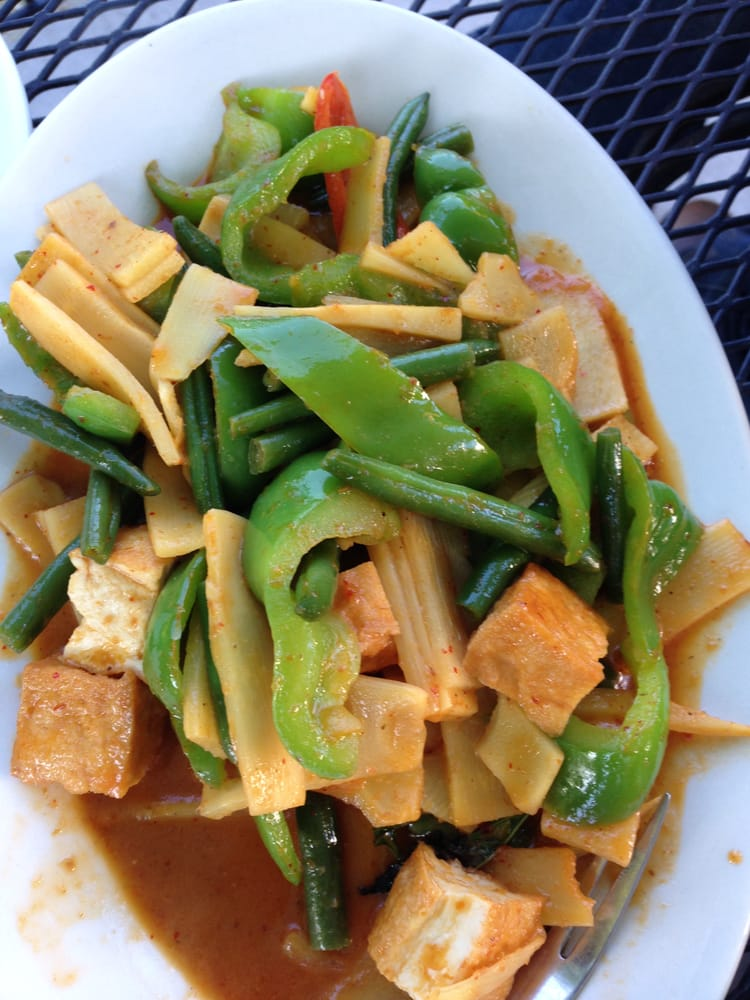 Pad Prik King with Tofu (not on the menu) - Yelp