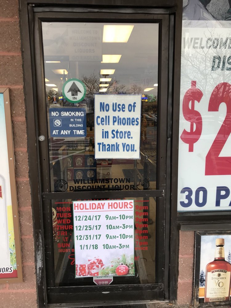 Williamstown Discount Liquor: 114 S Black Horse Pike, Williamstown, NJ