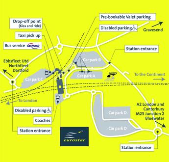 Map Of Car Park D Ashford International