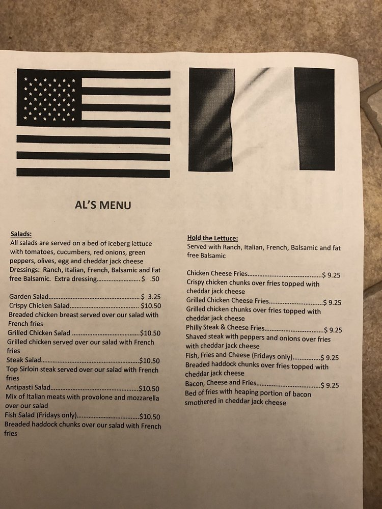 Al's Pizza Economy: 1609 Conway Wallrose Rd, Freedom, PA