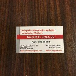 Michelle grana do osteopathic physicians 470 providence main st photo of michelle grana do huntsville al united states my business card colourmoves
