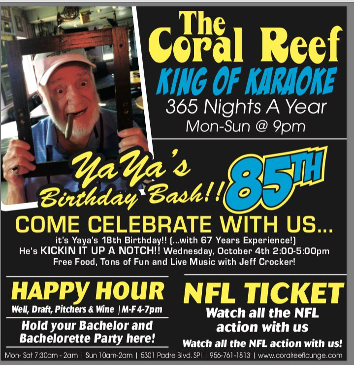 The Coral Reef Lounge South Padre Island Tx