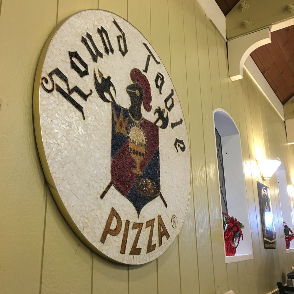Round Table Pizza Locations.Original 1st Round Table Location Cool Art Piece Yelp